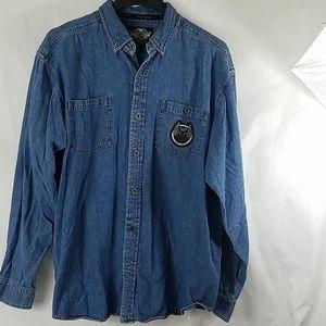 Harley Davidson Denim 105th Anniversary Shirt